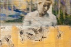 Susanne W., 2014, Mixedmedia auf Dibond, 15x15cm